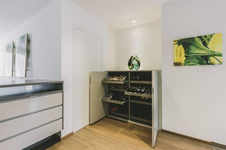 Tischlerei Ulrich Wohnung HS Eingang Schuhregal Schuhe Wien 3