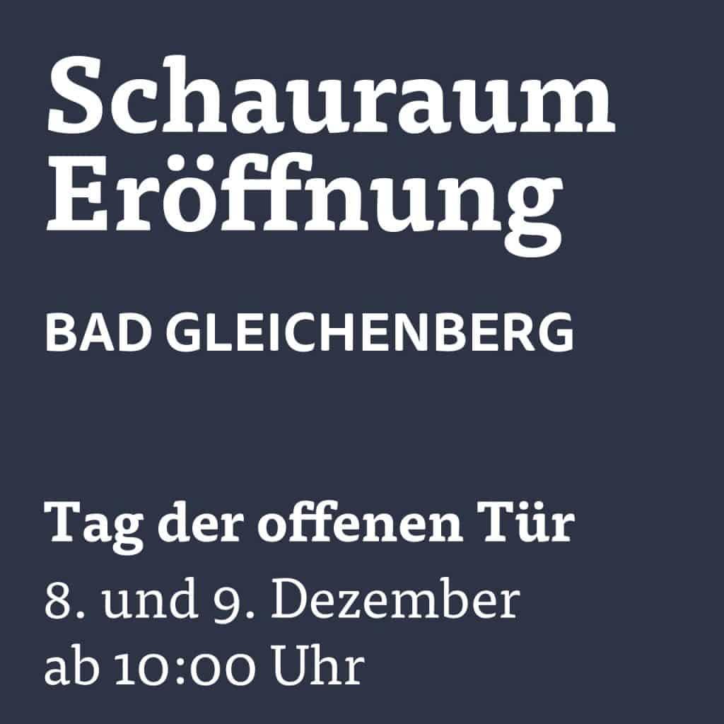 Eröffnung neuer Schauraum Bad Gleichenberg